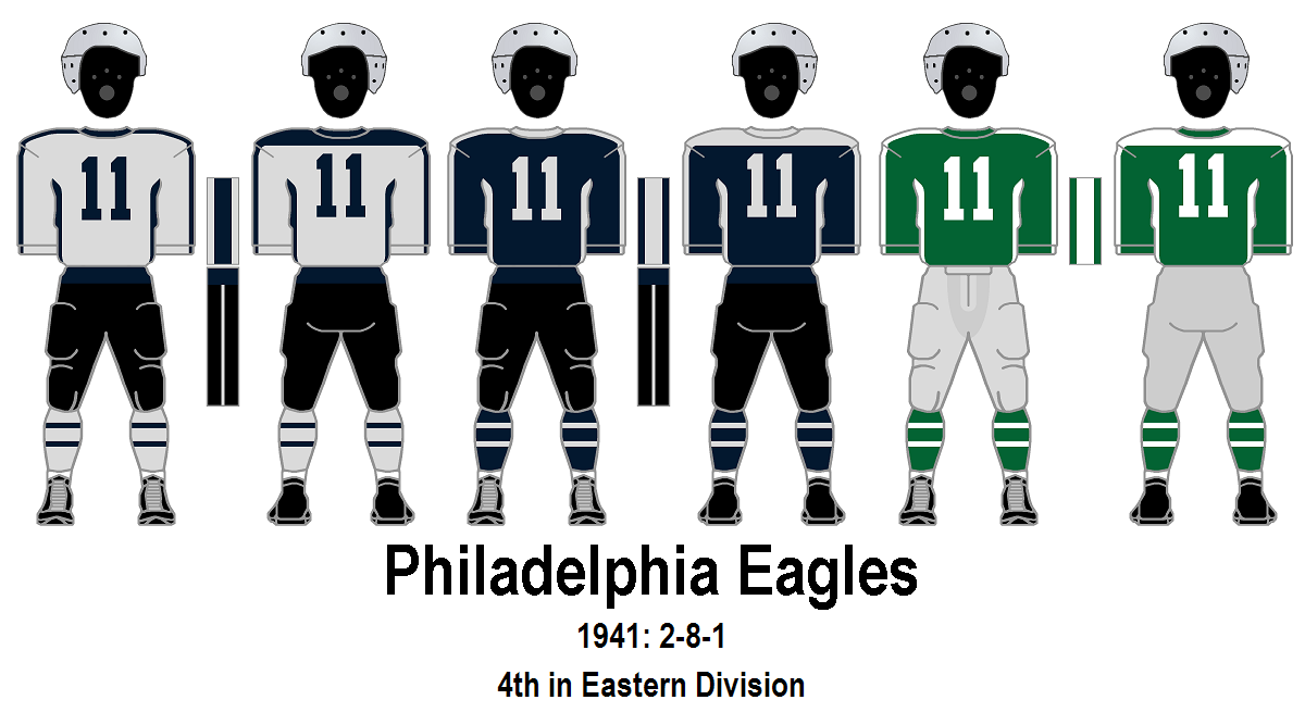 1956 As With Many Other Teams The Eagles Add Tv Numbers To Jerseys Starting This Season Four Binations Are Worn A White Jersey Green