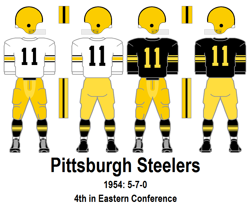 reputable site 22692 a459e DIY Refurbished 1950s Youth Football Helmet: 1954 Pittsburgh ...