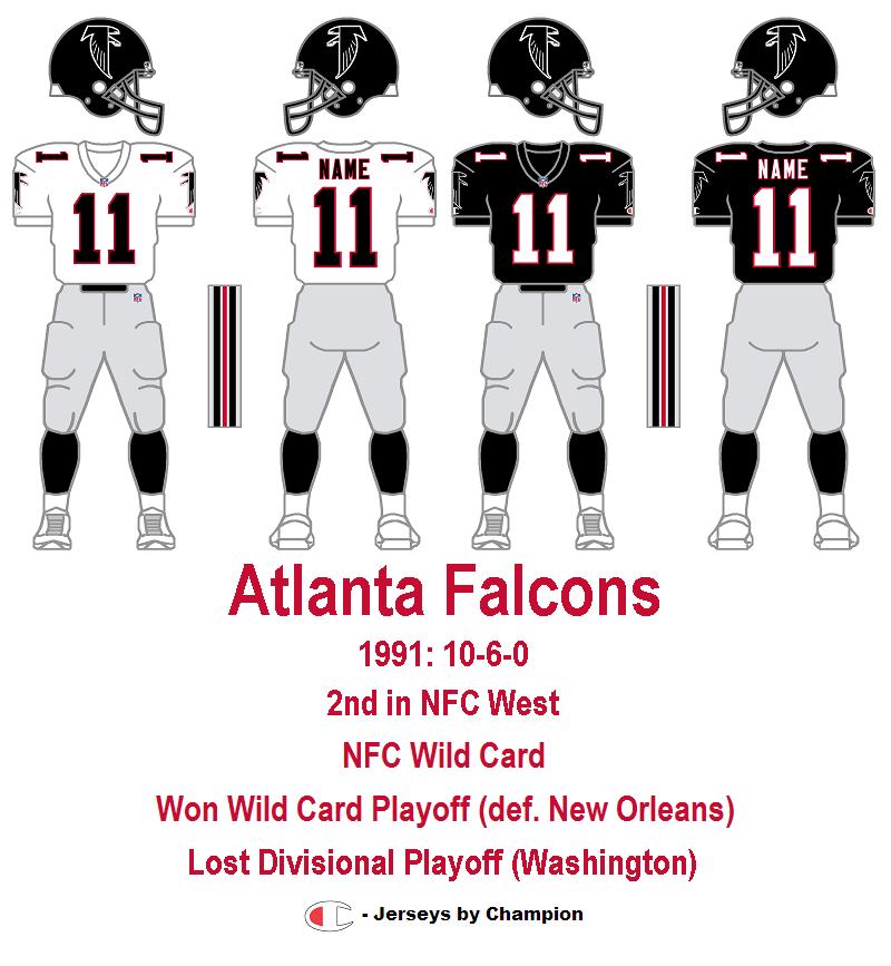 1991 atlanta falcons jersey