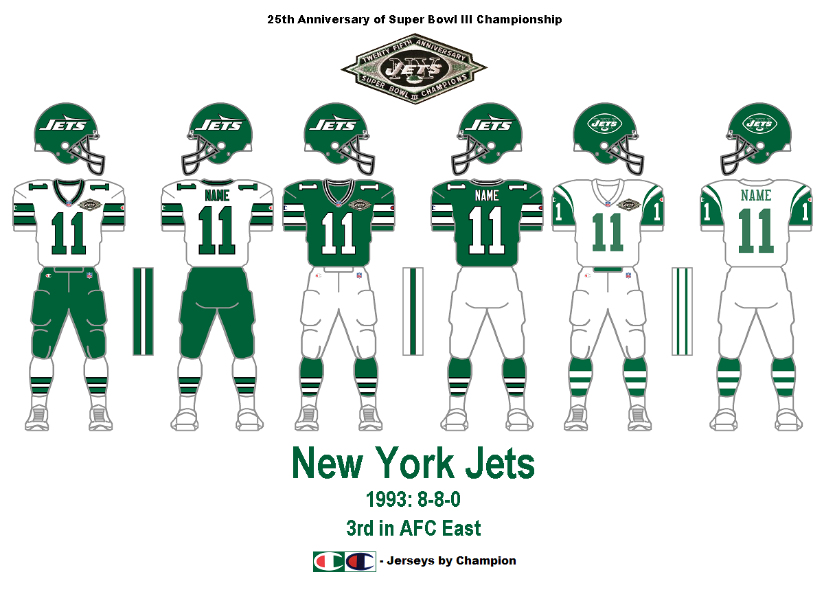 Jets Uniform History 20
