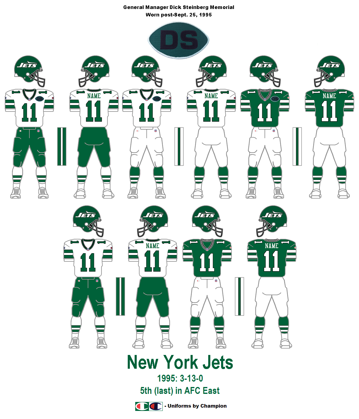 Jets Uniform History 44