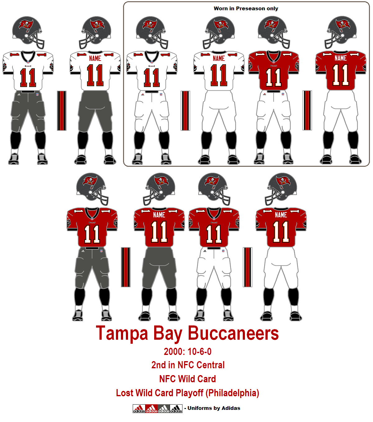 13+ Buccaneers Uniforms 2002