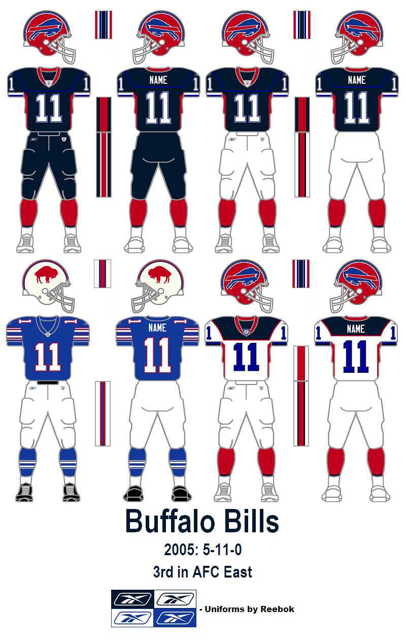what color are the bills home jerseys